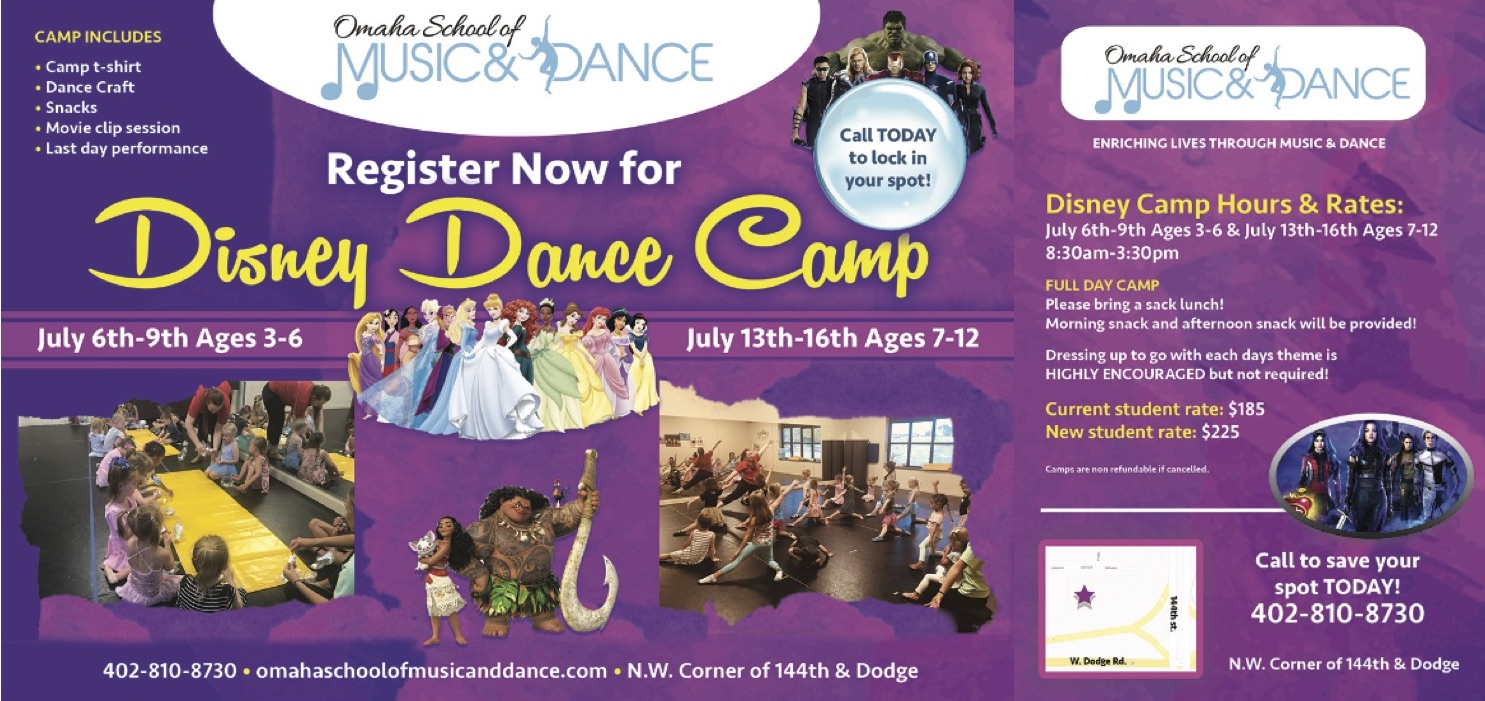 Disney Dance Camp Flier